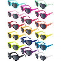 Wholesale mod sunglasses for sale - Group buy Love Heart Shaped Sunglasses Vintage Cat Eye Mod Style Retro Glasses UV400 Protection Eyewear Adult Children Party Sunglasses