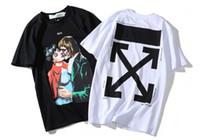 ingrosso t-shirt zombie-2019 mens designer t-shirt luxurys off tshirt bacio Zombie vampiro stampato freccia logo tendenza tee top di alta qualità