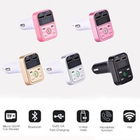 Wholesale B2 Wireless Bluetooth Multifunction FM Transmitter USB Car Chargers Adapter Mini MP3 Player Kit Holders TF Card HandsFree Headsets Modulator