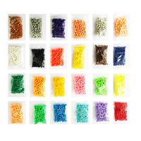 aqua spielzeug großhandel-350 stücke aqua perlen spielzeug für kinder pegboard aquabeads für mädchen diy geschenk kreativität hand umkreist feinmotorik neue spielzeug