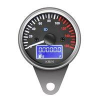universelle tachometerlehren groihandel-Universal-12V Motorrad-Tacho-Hintergrundbeleuchtung Digital Fuel Meter-Entfernungsmesser Autoersatzteile Kraftstoffanzeigen