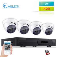 Wholesale poe cctv kit resale online - eyessys MP P Night Vision IP Camera CH MP NVR CCTV POE System Dome Surveillance Kits Home Security set
