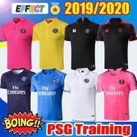 Wholesale polo football online - 2019 PSG Soccer Training Shirts maillot de foot MBAPPE Soccer Jerseys Kit Survetement Paris saint germain football POLO shirts