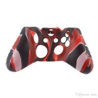 caja del controlador xbox one al por mayor-Para Xone Soft Silicone Flexible Camuflaje funda de piel de goma para Xbox One Slim Control Grip Cover