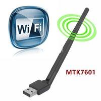 antenne adaptateur sans fil usb achat en gros de-Cartes réseau Rt5370 USB WiFi Antenne MTK7601 carte réseau sans fil USB 2.0 150Mbps 802.11b / g / n LAN Adapter avec antenne rotatif