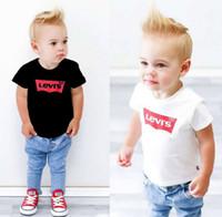 ingrosso ragazzi vecchio stile-Maglietta casuale del bambino della maglietta del cotone di alta qualità delle ragazze del bambino delle ragazze europee di modo di streetwear di estate 2-9 anni