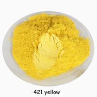 gelbe lidschatten großhandel-500g buytoes Zitronengelbe farbe Natürliches Mineral Glimmerpulver DIY Für Seifenfarbe Seifenfarbstoff make-up Lidschatten Seifenpulver