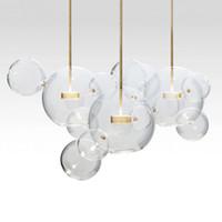 sabão de iluminação venda por atacado-Modern Minimalista LEVOU Pingente de Iluminação Soap Bubble bola de Vidro pendurado lâmpada sala de estar Quarto Sala de Jantar