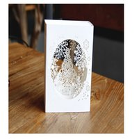 Wholesale greeting box resale online - 1pc Handmade D Up Tree Box Snowflake Greeting Holiday Card Merry Christmas Gift Wedding Birthday Baby Shower Invitations