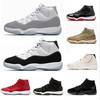 Wholesale high low gold resale online - 2019 Vast Grey Concord High Men Basketball Shoes s Cap and Gown PRM Heiress Bred Platinum Tint Space Jams mens sports Sneakers