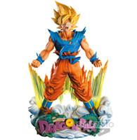 figura de batman brinquedos venda por atacado-24 cm Dragon Ball Z Super Son Saiyan Goku Anime Action Figure PVC Nova Coleção figuras brinquedos Coleção para o presente de Natal Y190529