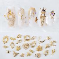 Moda 20 estilos varios tipos Nail Art Decoraciones de uñas Brillo Joyas de aleación Rhinestones dIY uñas accesorios