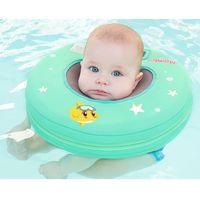 cuello para bebés al por mayor-Mambo Bebé de seguridad sin cuello flotante inflable Anillo redondo flotante Accesorios para piscinas para bebés Flotador cervical