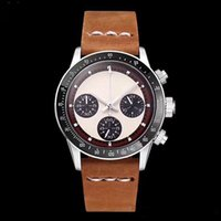 Wholesale vintage christmas tags resale online - 2019 LUXURY WATCH Chronograph Vintage Perpetual Paul Newman Japanese Quartz Stainless Steel Men Mens Watches Watch Wristwatches