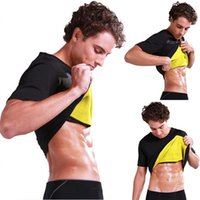 Plus Size Men Thermal Body Shaper Slimming Tops 2019 Summer Hot Thermo Sweat Sauna Waist Trainer Corset Shapewear Shapers S-3XL