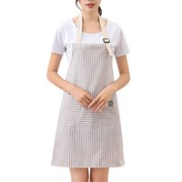 фартуки платья оптовых-Kitchen Aprons For Women Anti Foul Apron Dress Pink gray Pinafore Cooking Accessories Cafe Restaurant Flower Shop Overalls