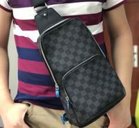 göğüs erkek çantası toptan satış-Gerçek deri Erkek göğüs çantası AV. ÇANTA ÇANTASI D.GRAP. N41719 seyahat çantası MENS çapraz vücut meme omuz çantası N41612 N41473 41473 N41712 AVENUE