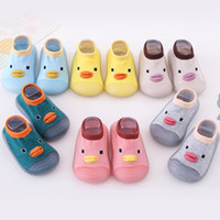 Wholesale baby shoe socks for unisex resale online - Spring Knitting Floor Shoes For Baby Duck Pattern Socks Soft Bottom Baby Toddler Shoes and Socks Years Non slip Rubber Sole