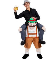 captain barnacles 도매-숄더 라이드 나에게 피기 백 라이드 멋진 드레스 성인 파티 의상 Mens 마스코트