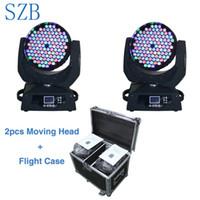 vuelo dirigido al por mayor-SZB Flight Case 2in1 108X3W RGBW LED Cabeza móvil de lavado Luz de escenario LED Cabeza móvil / SZB-MH10803