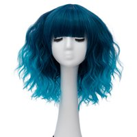 Wholesale ombre for black girls for sale - Group buy Christmas Ombre Party Cosplay Wig with Baby Hair Short Water Wave Hair Synthetic Wigs for Black Women quot Colors Available
