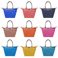 Wholesale handle candy box resale online - Oxford Dumpling Handbag Colors Large Capacity Shoulder Shopping Tote Bags Beach Top handle Candy Color Hobos Outdoor Bag OOA6053