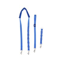 Wholesale personalized dog leashes resale online - DADYPET Adjustable Dog Grooming Belly Nylon Strap D rings Bathing Band Free Size Pet Traction Belt Grooming Supply
