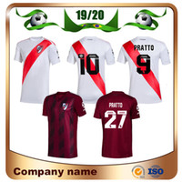 ingrosso vendite camicia da calcio-2020 River Plate home maglia da calcio bianca River Plate trasferta rossa G.MARTINEZ QUINTERO PRATTOS Maglia da calcio 19/20 divisa da calcio in vendita