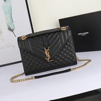italyan deri çanta toptan satış-Lüks çanta Yüksek kaliteli çanta 19 ilkbahar yaz yeni kadın çanta İtalyan buzağı deri klasik ön flap çanta Metal logo 24X18X5 CM SLP01