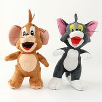 ingrosso animali ratti-Tom e Jerry giocattoli di peluche per bambini kawaii animali di peluche morbidi gatto ratto bambola giocattolo per matrimonio festa di compleanno decorazione di natale 25 cm