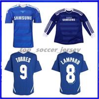 camisetas de torres al por mayor-Tailandia 2011 2012 Lampard Soccer Jerseys 03 04 05 11 12 Liga de campeones final Drogba TORRES 2004 2005 Retro MATA Camiseta de fútbol Terry