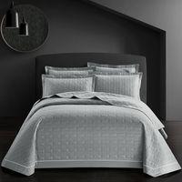 dessus de lit de luxe achat en gros de-Nouveau 3 Pcs De Luxe Coton Throw Couverture Couvre-lit 245x250cm blanc rose gris bleu Lit Literie Taie D'oreiller Couvre-lit