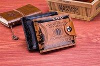 erkek erkeğin şortunu toka toptan satış-Popüler tarzı cüzdan basınç değişimi manyetik toka çift hat erkek kısa cüzdan 100 $ cüzdan