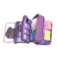 calcetines de bolsa al por mayor-Gran Capacidad Sujetador de Ropa Interior Bolsa de Almacenamiento Organizador de Clasificación Para Los Calcetines de Viaje Cosméticos Cajón Armario Ropa Bolsa 6 Colores MMA2248