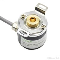 Wholesale shaft toy resale online - Freeshipping Hollow Shaft Photoelectric Rotary Encoder ZKP3808 Pulse Wire ABZ Three phase V