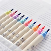 Wholesale korean highlighters for sale - Group buy 10pcs Futurecolor Write Brush Pen Colored Marker Pens Set For Calligraphy Drawing Gift Korean Stationery Art Supplies office