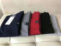 девушки водолазка свитер белый  оптовых-Высокое качество чистый цвет акне улыбающиеся Мужские свитера мода с длинным рукавом Письмо печати пара свитеров свободный пуловер классический письмо свитера