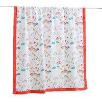 cobertor de verão de bambu venda por atacado-Cobertores do bebê Bamboo Cotton 6 camadas Quilt recém-nascido de gavetas envoltório Cobertores Verão crianças Menina Menino Criança cama 120 * 220 centímetros
