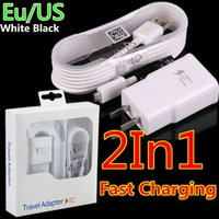 Wholesale iphone wall car charges online – QC3 US Fast Adaptive usb Charging Ac home wall charger M Ft usb cable for samsung s6 s7 edge note with box
