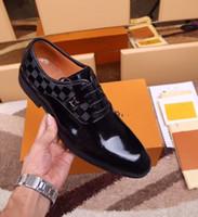chaussures habillées en cuir oxford pour hommes achat en gros de-Chaussures habillées formelles pour les marques douces Hommes Peau brillante Véritable robe d'affaires Chaussures en cuir Bout pointu Hommes créateur Business Oxford