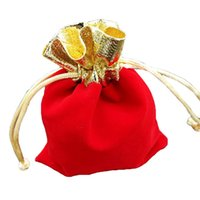 ingrosso piccoli sacchetti di souvenir di gioielli-Sacchetto fortunato del festival di nuovo anno di Natale con il regalo libero di sorpresa, contenitore dei sacchetti del regalo di cerimonia nuziale dei sacchetti morbidi dei gioielli piccolo regalo