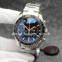 relojes profesionales al por mayor-Hot Color Chronograph Speed quartz Men 300 Racing Master CoAxial Moonwatch Professional Spectre Men Black Orange Watches Reloj de pulsera para hombre