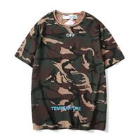 ingrosso zebre attraversa-Designer t shirt da uomo OFF tshirt BIANCO TOP magliette di marca estate vendita calda camouflage zebra crossing t-shirt stampa ricamo t-shirt tee