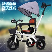 Wholesale tricycles resale online - Children tricycle bicycle years old baby stroller baby stroller children bicycle
