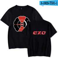 f272fcd0474e7 2019 men s designer clothing tshirt EXO Kpop Fashion Printed T-shirts Women  Men Short Sleeve Hot Sale Tshirts Casual Streetwear Tees Shirts