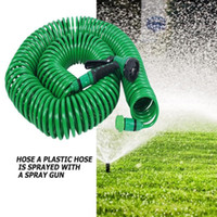 Wholesale expandable hoses resale online - Expandable Garden Hose Pipe Watering Spray Gun Water Hose Pipe Watering Spray Car Lawn Irrigation Kit Garden