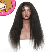 Wholesale cheap full lace yaki human hair for sale - Best selling unprocessed raw cheap virgin human hair long natural color remy yaki straight wig for women
