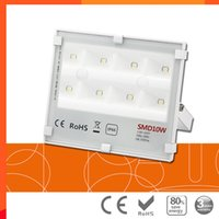 luces de inundación llevadas smd al por mayor-5 unids / lote luz de inundación LED poco profunda SMD 10w 20w 30w reflectores 220v 50W 100W 150W AC85-265V IP66 proyector impermeable al aire libre