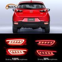 luzes led mazda cx venda por atacado-2PCS carro styling LED pára-choques traseiro refletor Luz Para Mazda CX-3 2016 2017 LED DRL Auto Brake Light levou luzes de advertência da cauda