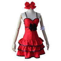 Wholesale saber fate zero cosplay resale online - Fate stay Night Anime Fate Zero Saber Cosplay Arturia Pendragon Red Dress Costume Bride Party Lolita Dress